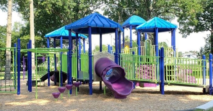 new play structure at Wildwood Park in Madison Heights