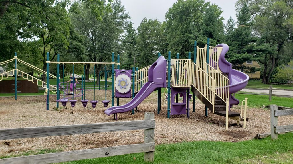 play structure at Wabash Park in Rochester Hills