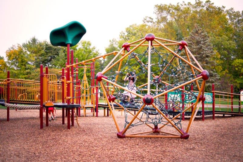 Spider climber at Beverly Park in Livonia