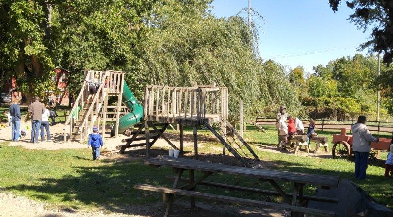 Playground at Upland Hills Farms in Oxford