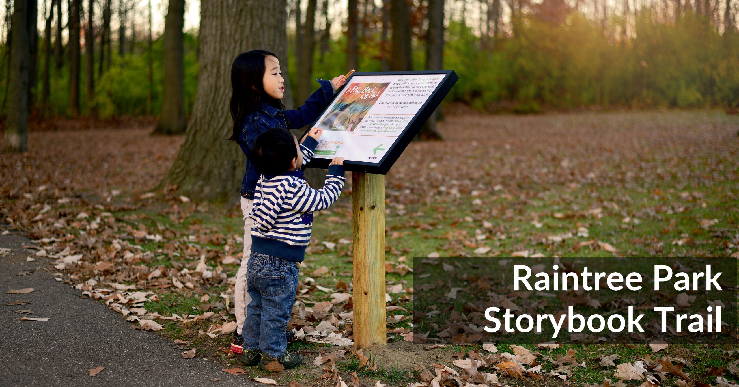 Storybook Trail in Troy Opens at Raintree Park