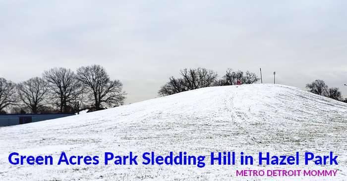 Green Acres Park Sledding Hill in Hazel Park