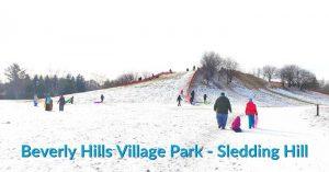 Beverly HIlls Park Sledding Hill
