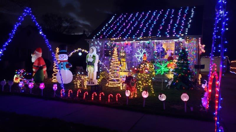 front view of Oakland County light display.