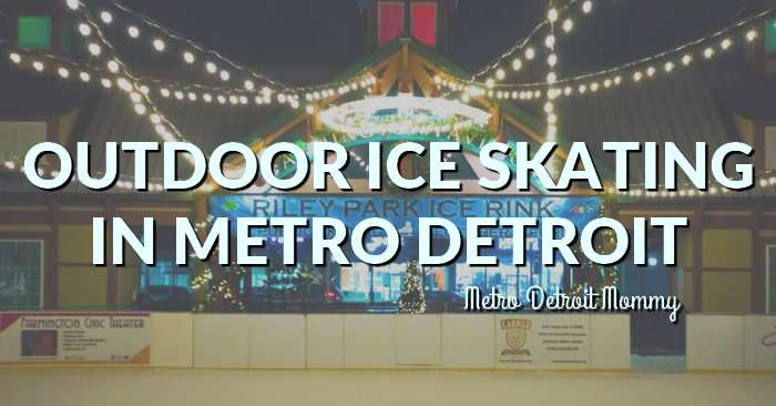 outdoor ice skating in Metro Detroit
