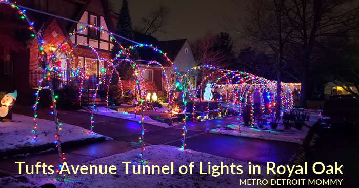 Tufts Avenue Tunnel of Lights: Christmas Light Display in Royal Oak