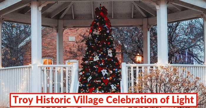 Celebration of Light at Troy Historic Village – Indoor & Outdoor Exhibit