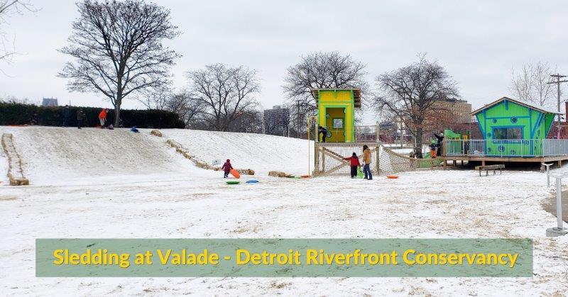 Bunny Hill Sledding at Valade Park in Detroit