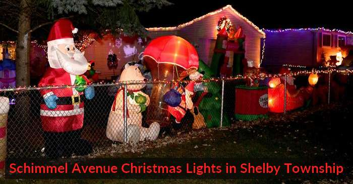 Schimmel Avenue Christmas Lights in Shelby Township