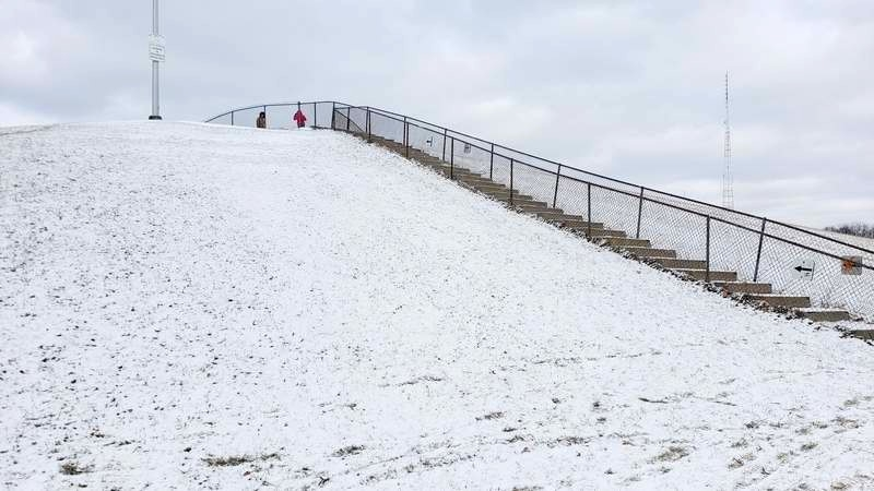 sledding hill stairs