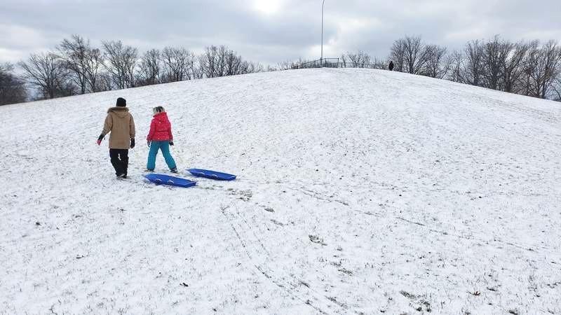 sledding at martin road park