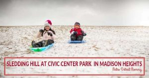 Top Thrills Civic Center Park Sledding Hill in Madison Heights