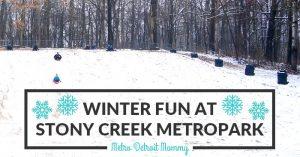 winter fun at Stony Creek Metropark