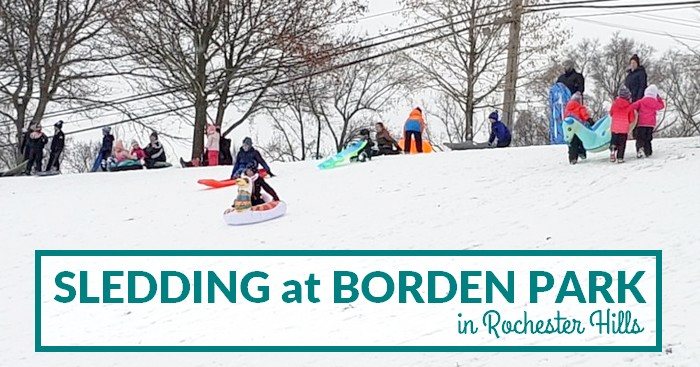 sledding at borden park