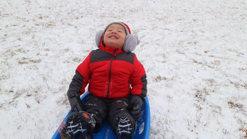 We love the woodhaven sledding hill.