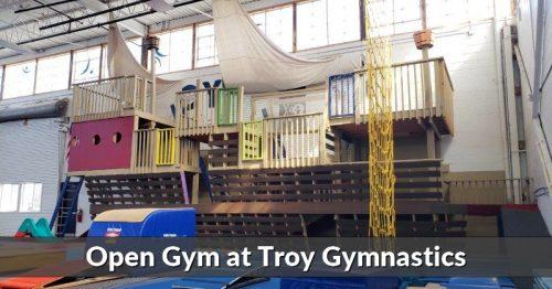 Open Gym at Troy Gymnastics: Burn off that Extra Energy