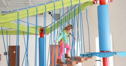 Munchkin Ropes Course at Troy Gymnastics Indoor Fun for ages 2-7