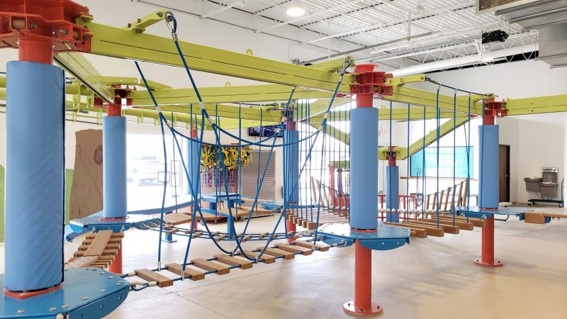 Munchkin Ropes Course at Troy Gymnastics