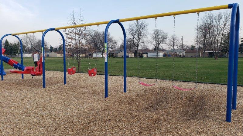 swings at Arthur J. Miller Playground