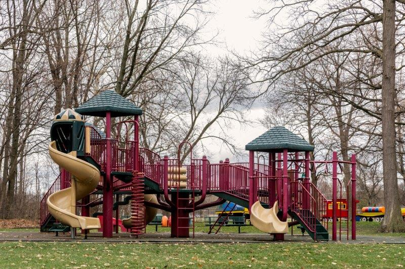 play structure at Shepherd's playground