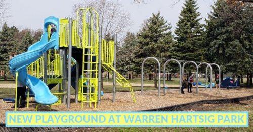 2021: New Playground at Hartsig Park in Warren