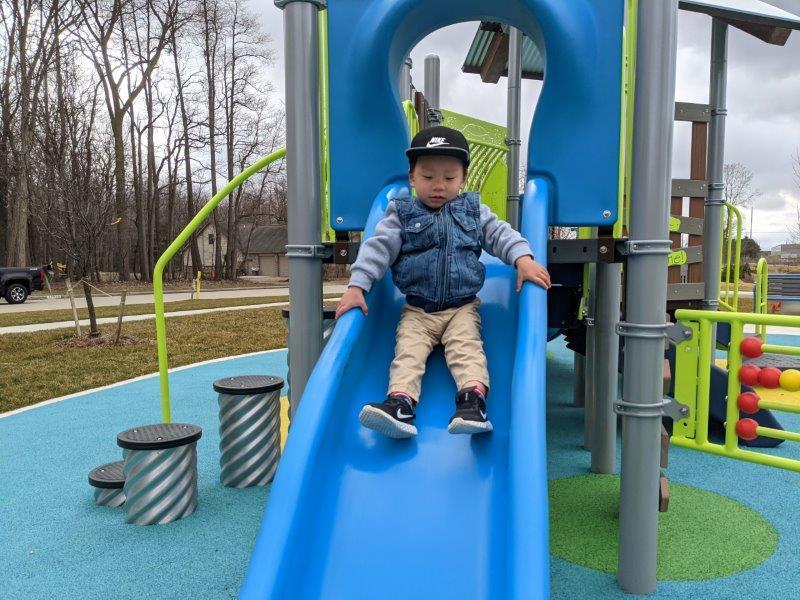 toddler slide at Kopper Park in Canton