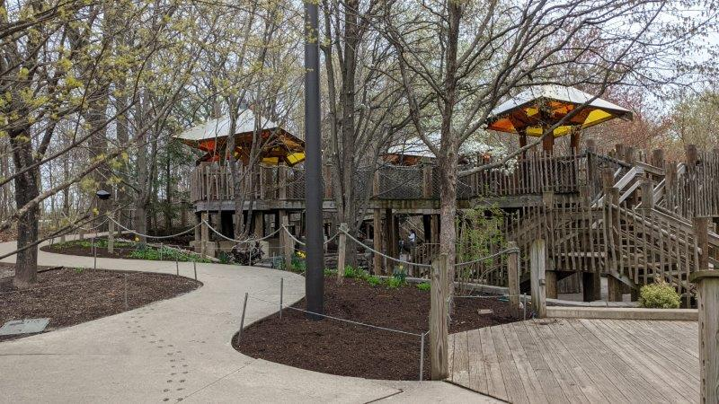 Treehouse Village within Lena Meijer Children's Garden at Frederik Meijer Gardens & Sculpture Park