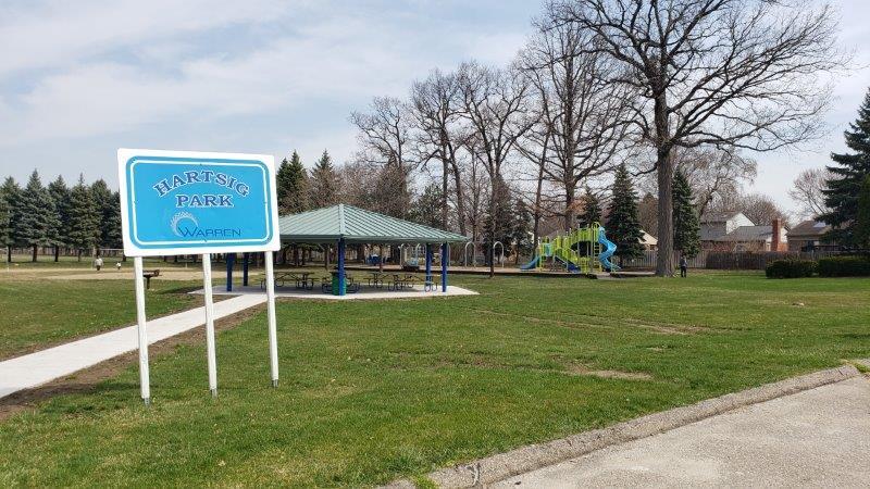 Warren Hartsig Park sign