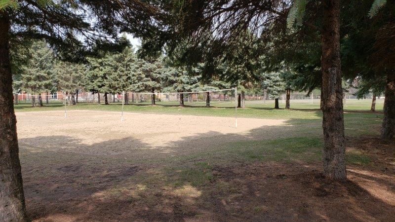 volleyball court at Hartsig Park