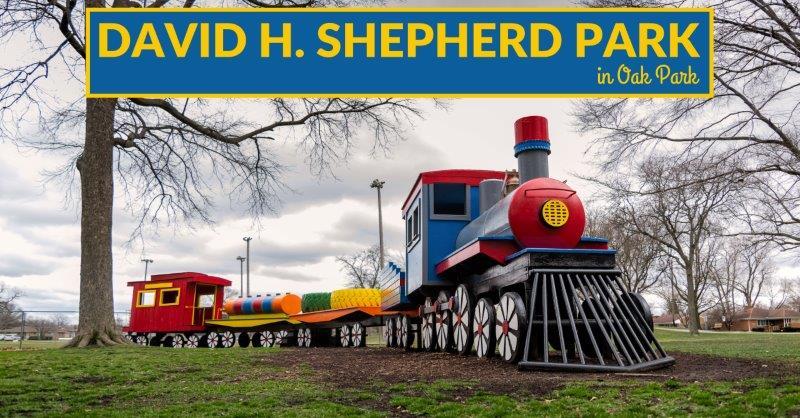 David H. Shepherd Park in Oak Park train