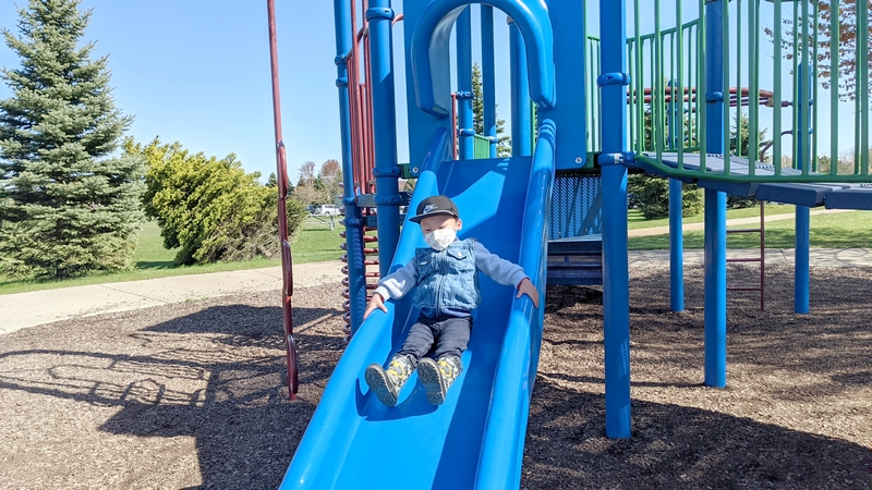 Independence Park Canton Playground Slide