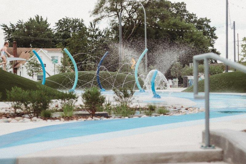new splash pad in Rochester Hills