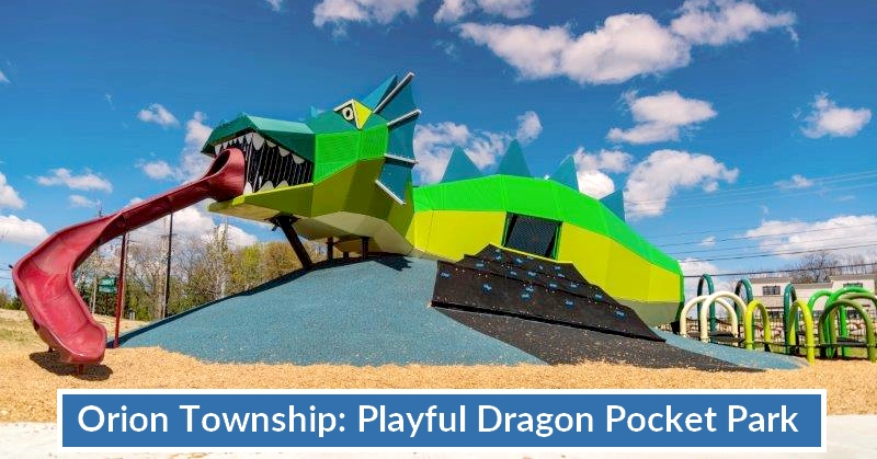 Playful Dragon Playground Pocket Park in Orion Township