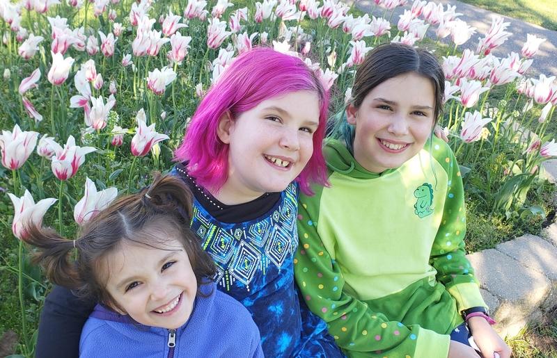 My girls at the Holland Mi Tulip Festival