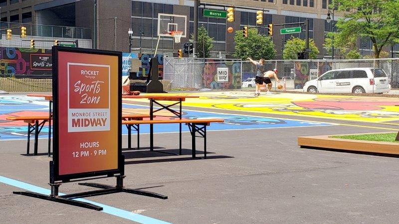 Rocket Sports Zone at the Monroe Street Midway