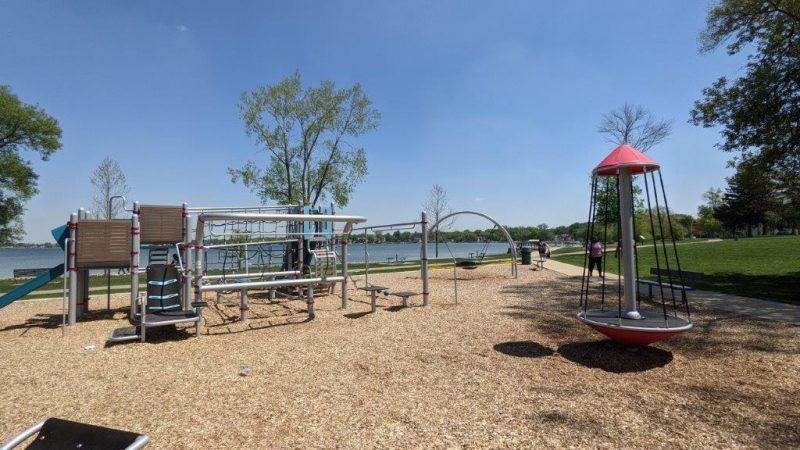 Pavilion Shore Park Playground in Novi