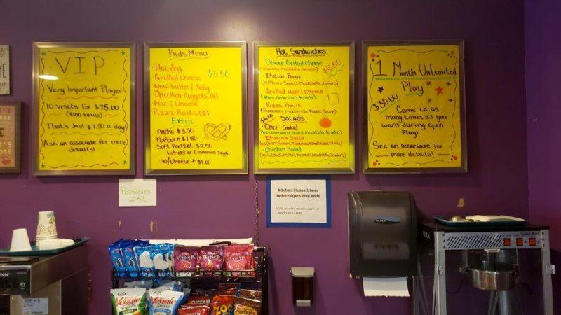 Food menu at Funtastic
