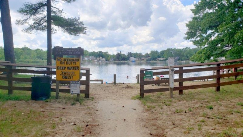 Entrance to Orion Township Beach