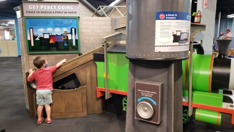 Get Percy Going at the Thomas & Friends™: Explore the Rails! exhibit in Lansing