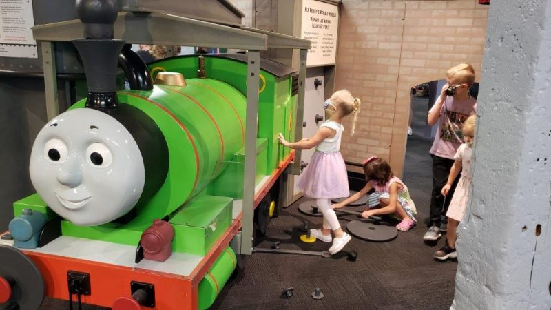 Percy at the Thomas & Friends™ exhibit at Impression 5 Science Center in Lansing