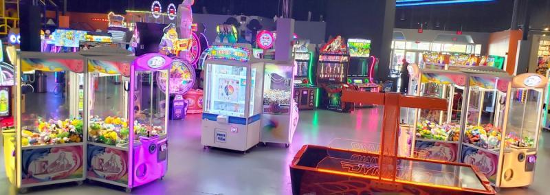Arcade games at Allegiant Nonstop in Warren Michigan