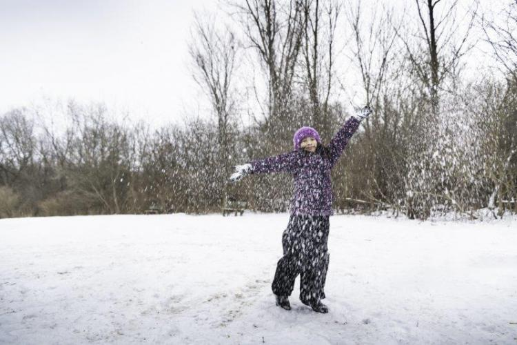 Bloomer Park enjoying the snow