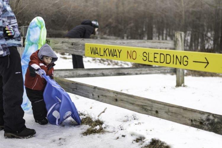 Bloomer Park Sledding Hill Rules