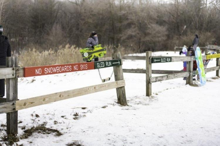 Bloomer Park Sledding Hill gates