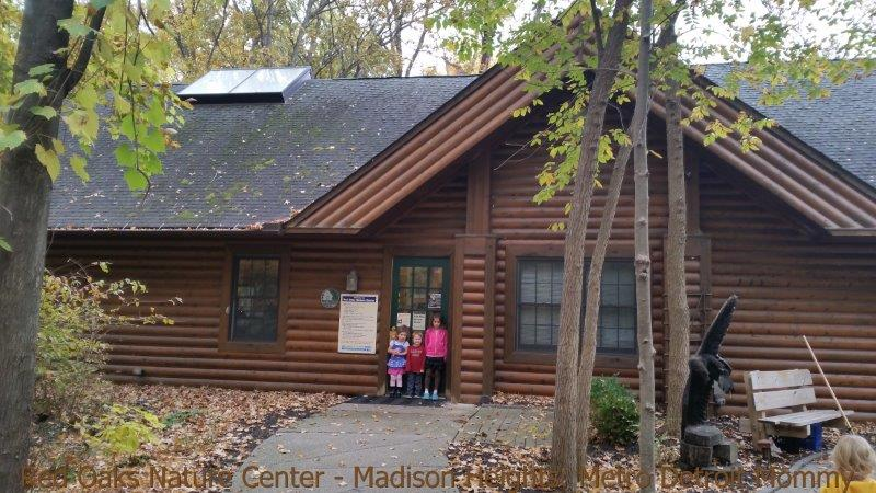 Red Oaks Nature Center in Madison Heights - nature center front