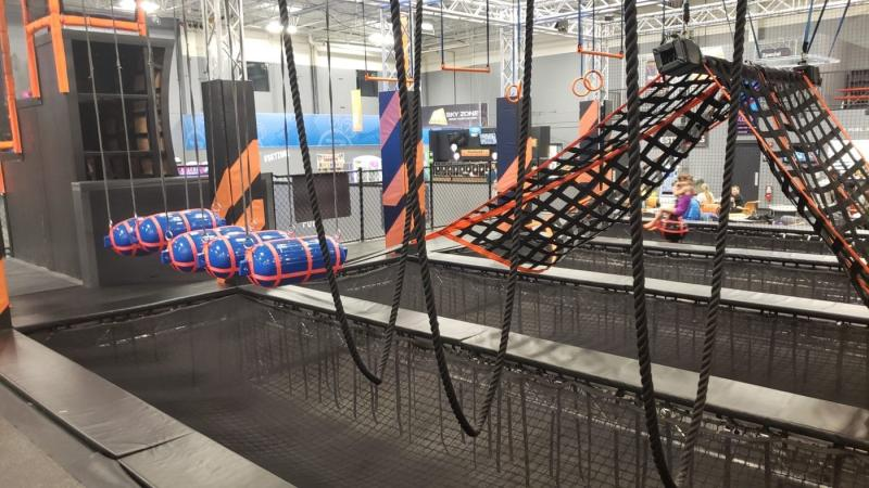 Ninja Warrior Course at Sky Zone Canton