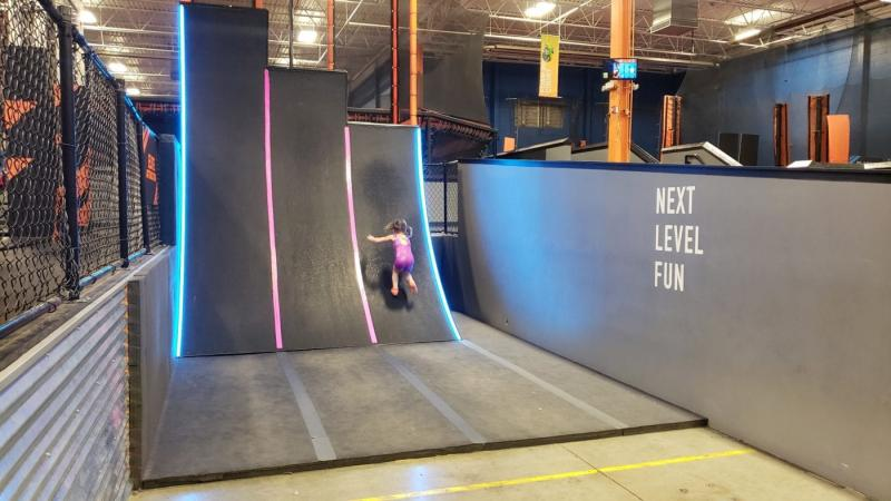Warped Wall at Sky Zone in Canton