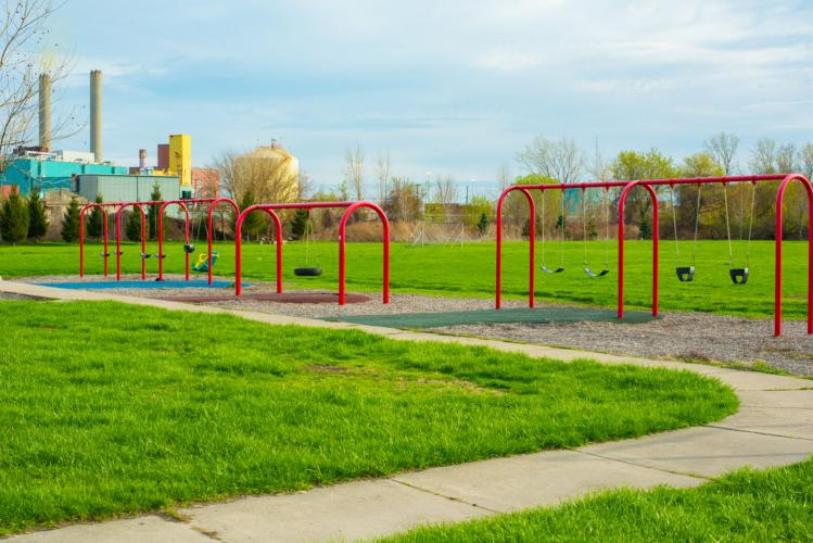 Delray Memorial Park - A Boundless Playground in Detroit, Michigan