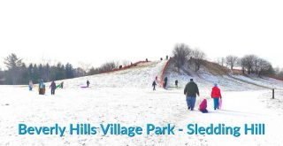 Beverly HIlls Park Sledding Hill